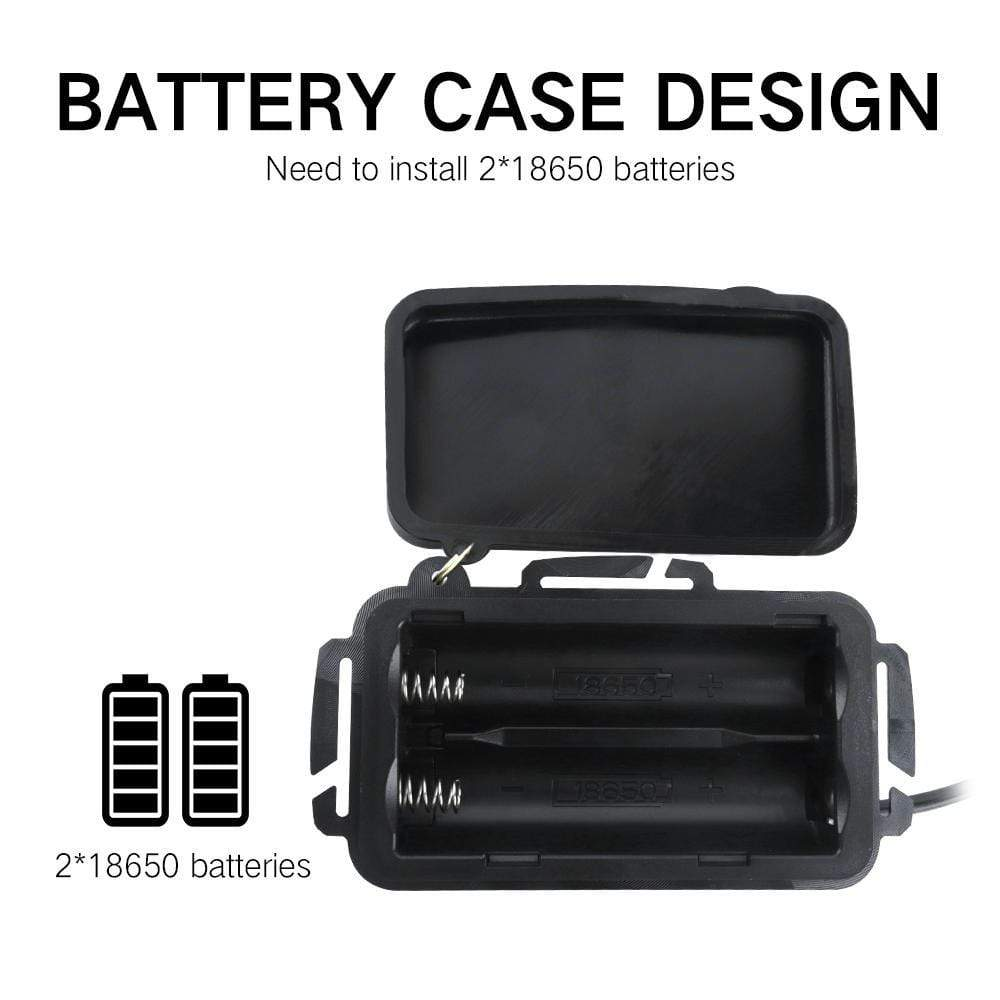 Boruit RJ3000 White Headlamp Battery, Battery Case, Battery Design