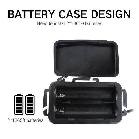 Image of Boruit RJ3000 White Headlamp Battery, Battery Case, Battery Design