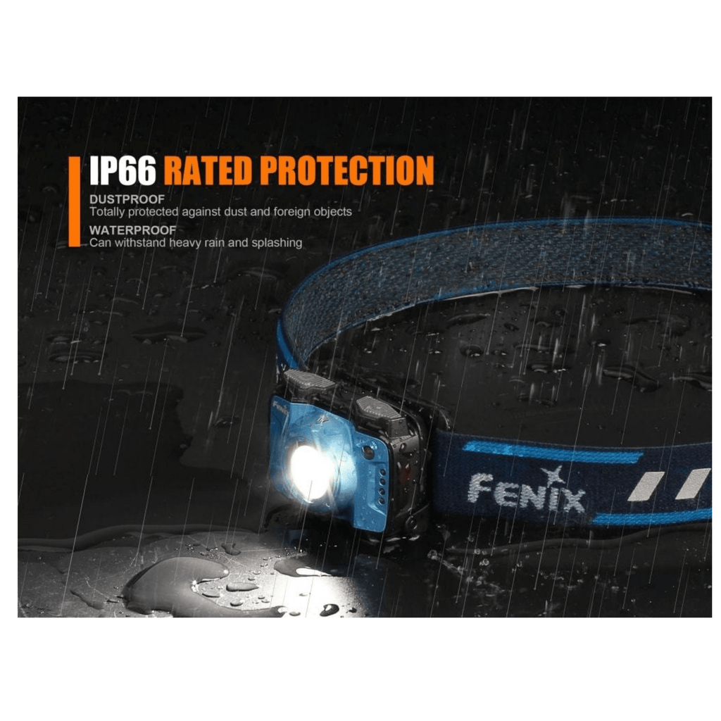 Fenix HL12R Blue Headlamp IP66 Rated Protection, Dust Proof and Water Proof