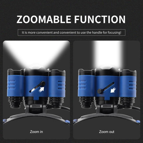 Image of Boruit B22 Headlamp zoom function