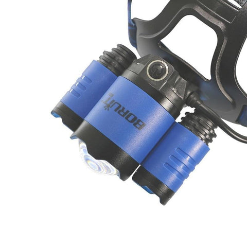 Boruit B22 Rechargeable Blue and White CREE LED Headlamp