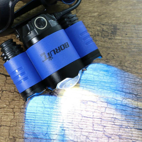 Boruit B22 Blue and White LED headlamp