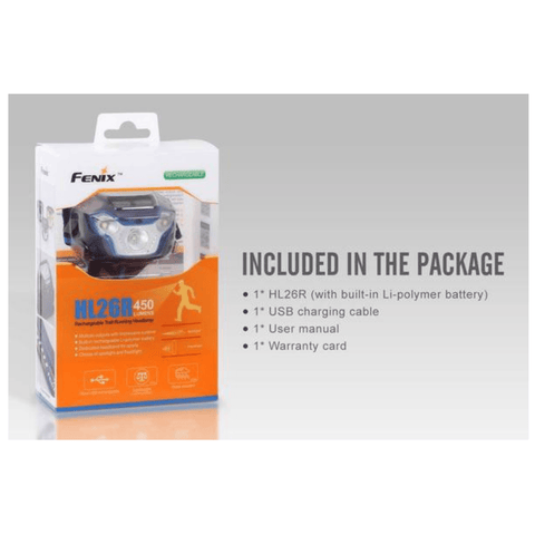 Image of Fenix HL26R Headlamp Box, Package Inclusions