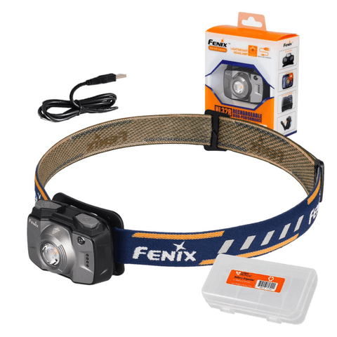 Image of Fenix HL32R Grey Headlamp Packaging with box
