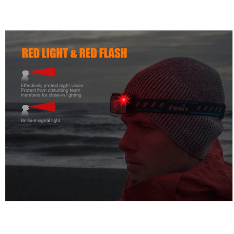 Fenix HL32R Red Light and Red Flash