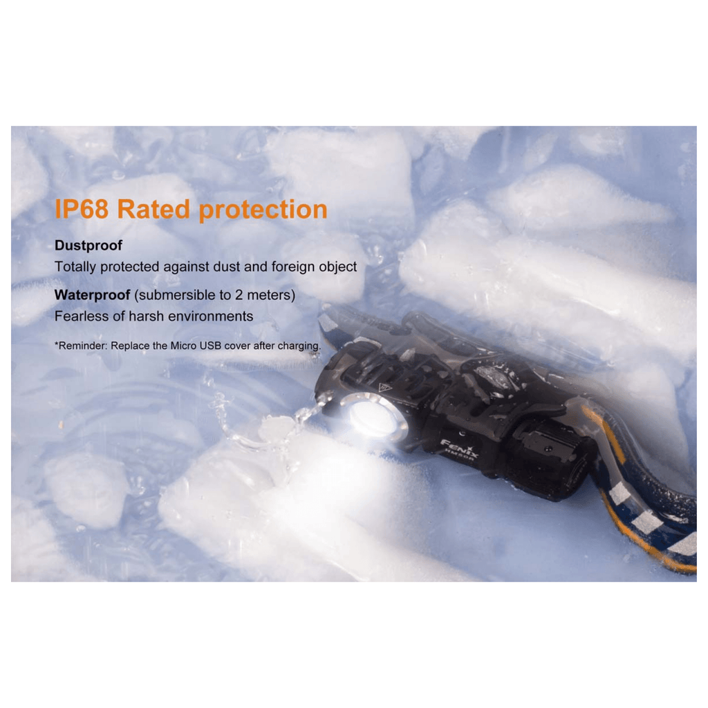 Fenix HM50R Headlamp IP68 Rated Protection, Dustproof, Waterproof