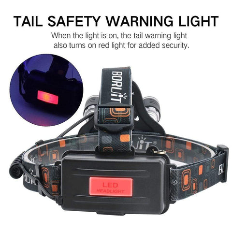 Boruit RJ3000 White Headlamp Tail Safety Warning Light