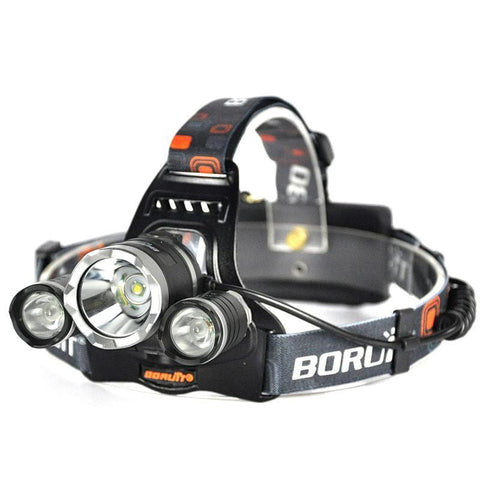 Image of Boruit RJ3000 Rechargeable Red CREE LED Headlamp
