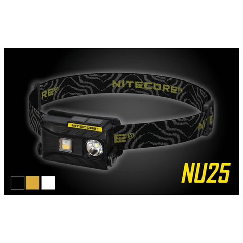 Nitecore NU25 Black, Yellow and White Headlamp