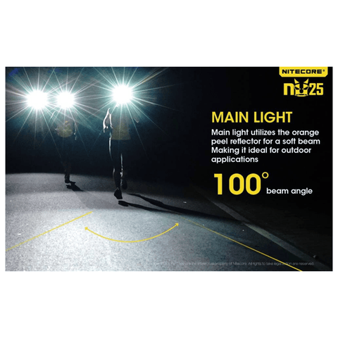 Nitecore NU25 Headlamp Main Light