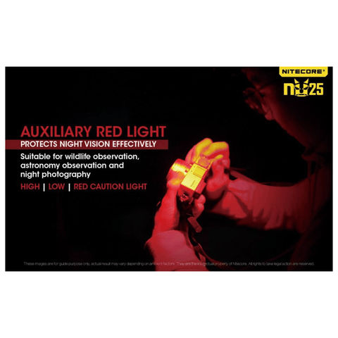 Image of Nitecore NU25 Headlamp Auxiliary Red Light