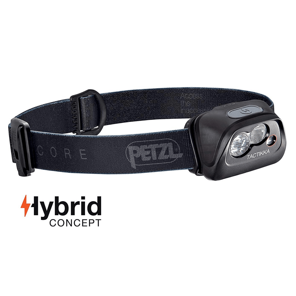 PETZL TACTIKKA Ultra Compact LED Headlamp Black
