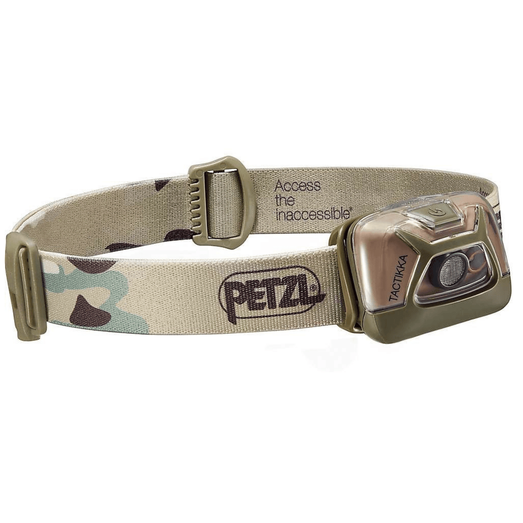 PETZL TACTIKKA Ultra Compact LED Headlamp Camo