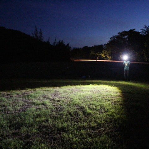 Image of Boruit B16 Headlamp Actual Range