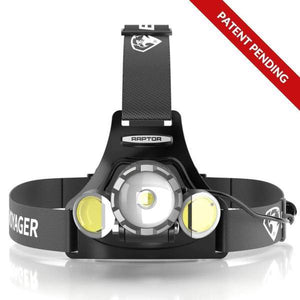 RAPTOR™ Rechargeable Tactical LED Headlamp with NearVIEW Technology - 3 PACK