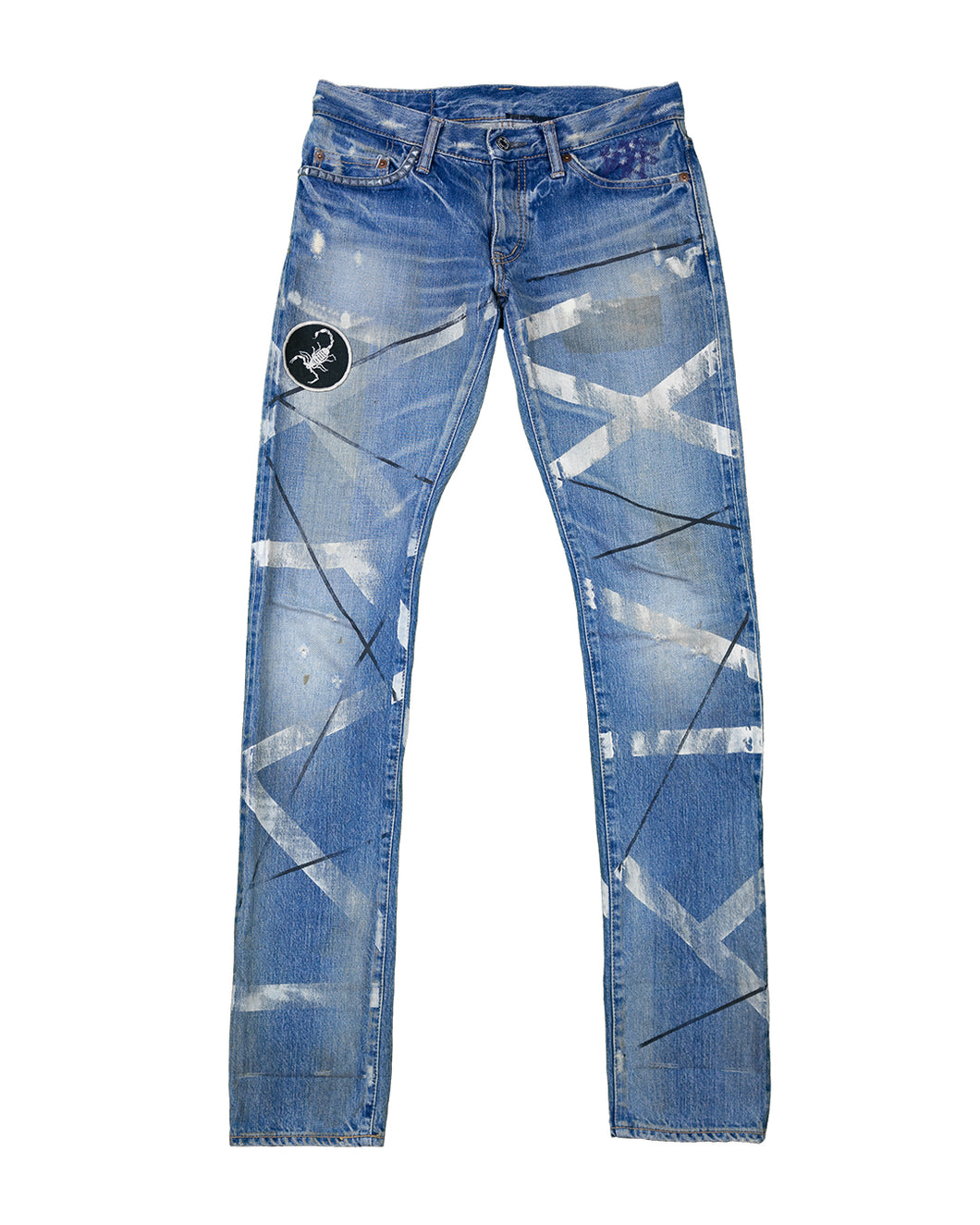 Hysteric Glamour paint striped jeans