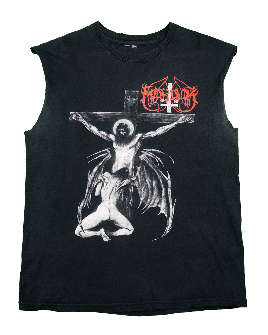 Morduck Christraping Black Metal Cut-Off Tee