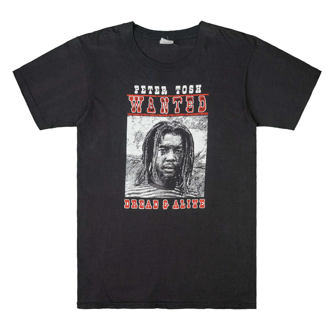 Peter Tosh WANTED 1981 Tour T-Shirt