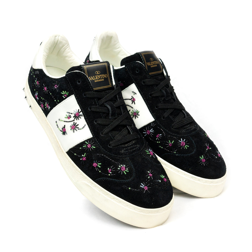 Valentino Embroidered Floral Sneakers