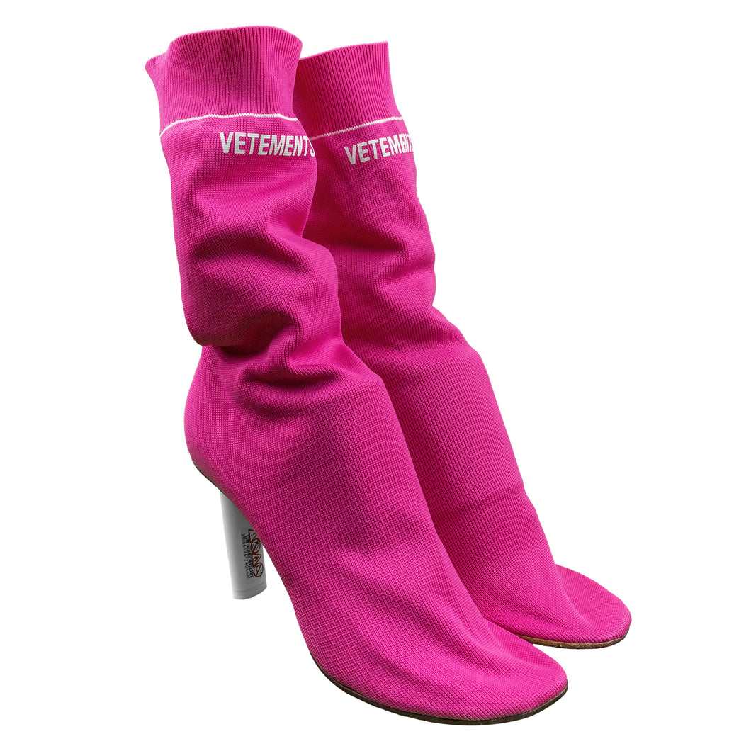 Vetements Pink Lighter Sock Heels