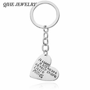 "QIHE JEWELRY Heart Shape Engraved ""it takes a big heart to help shape little minds"" Key Chain For Teacher Thank You Gift Teacher"