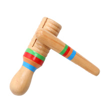 Wooden Musical Toys Small Single-threaded Ring Percussion Cylinder Croak Frog Barrel Rod Bell Toys Musical Instrument Tools
