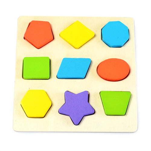 Wooden Preschool Montessori Early Educational Toys Intellectual Geometry Toys Set