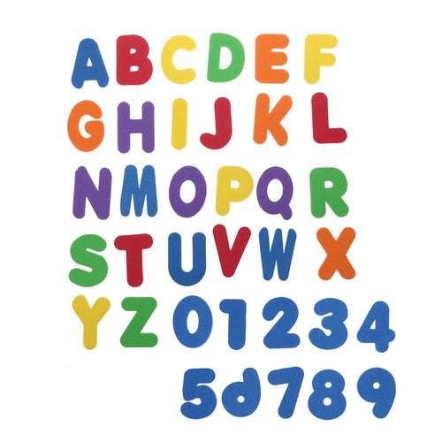 Non Toxic Luxury 36 Piece Foam Letters and Numbers Bath Toy for Babies Kids Nursery Kindergarten