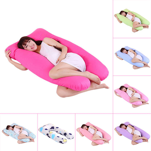 140*80cm Body Pillows Sleeping Pregnancy Pillow Belly Contoured Maternity U Shaped Removable Cover pregnant comfortable cushion