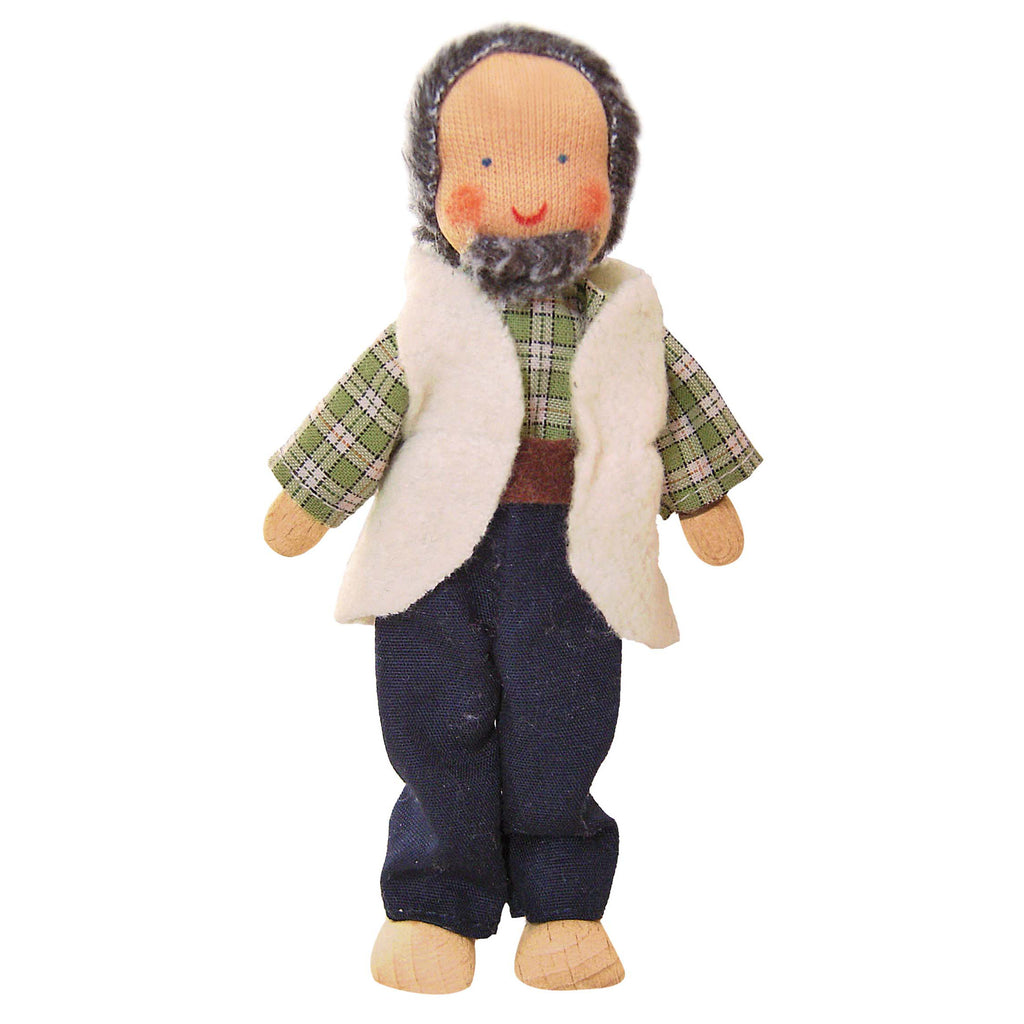 Käthe Kruse Waldorf Flexible Doll Grandfather with beard