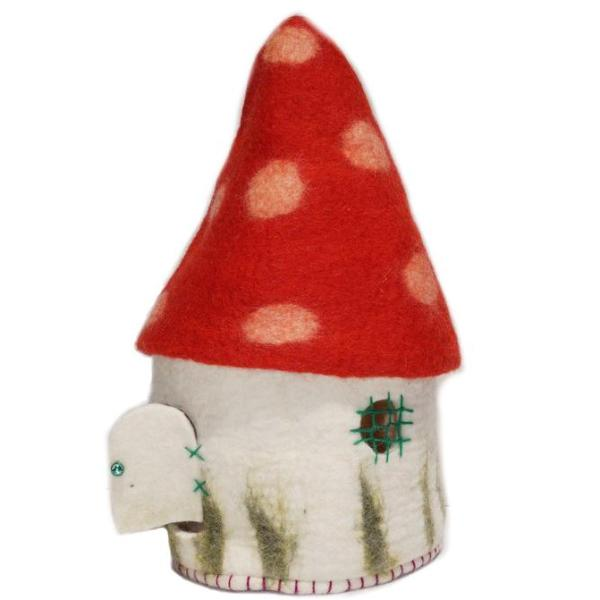Himalayan Journey gnome toadstool home large