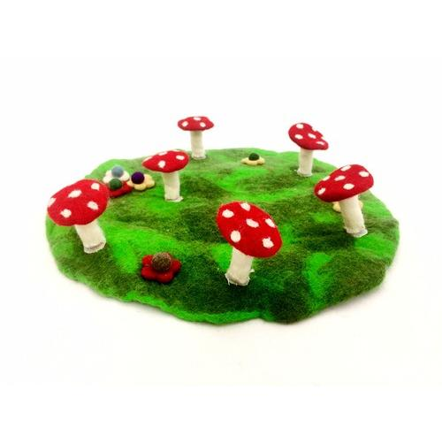 Himalayan Journey faery ring and toadstool mat (detachable flowers)