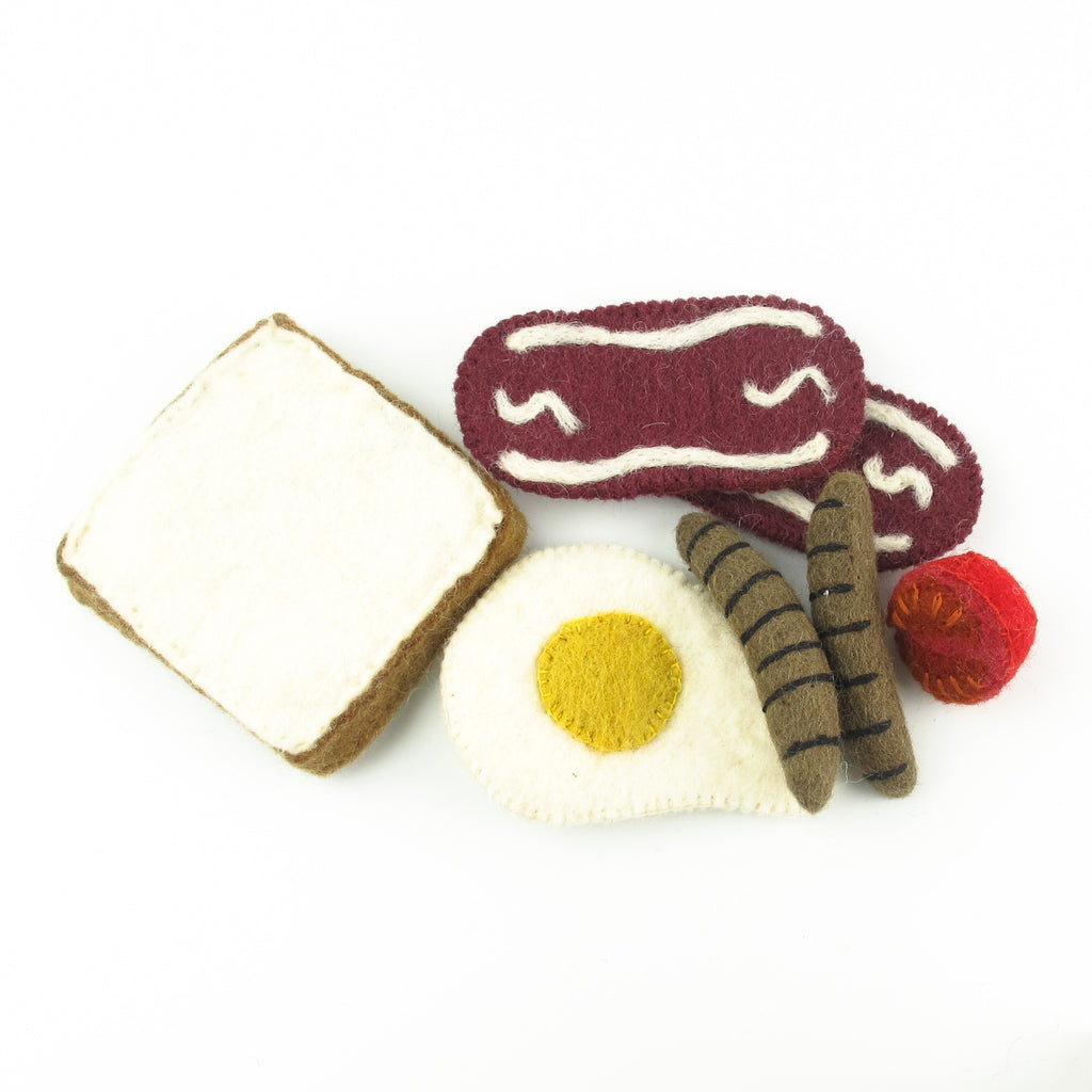PapooseToys felt play food - breakfast set