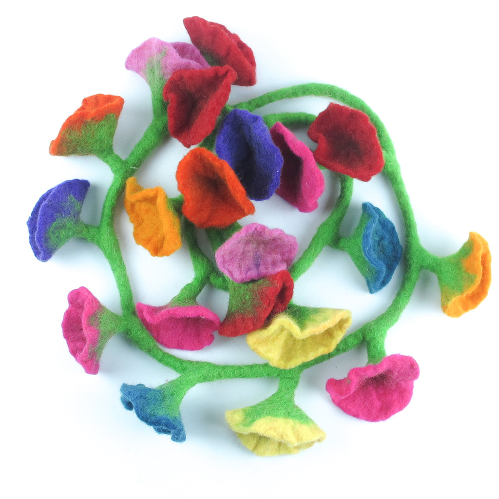 20 colourful flowers garland
