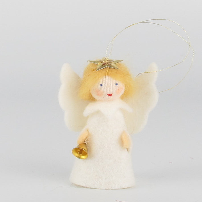 Christmas hanging ornament - small angel with bell