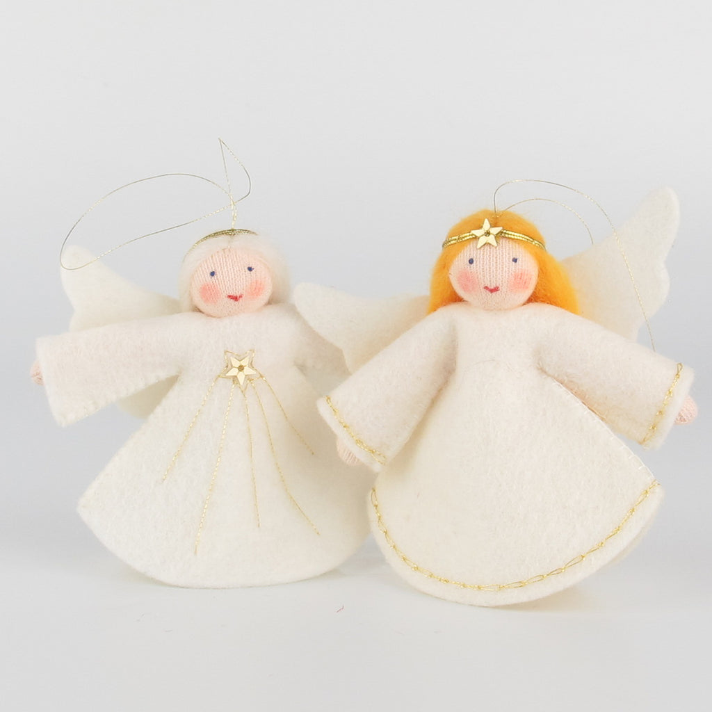 Christmas hanging ornament - big angel with white hair