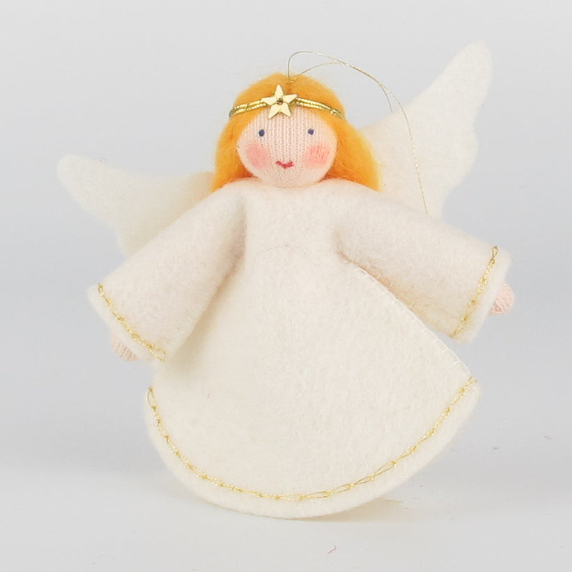 Christmas hanging ornament - big angel with golden hair