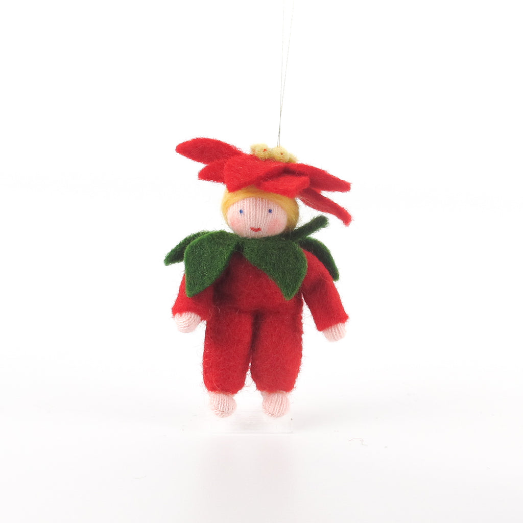Christmas Flower Fairy - Poinsettia baby