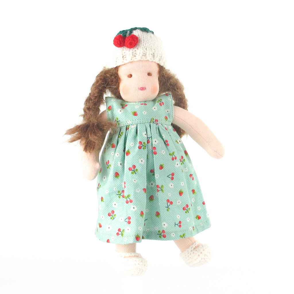 Ambrosius Waldorf doll girl - brown hair