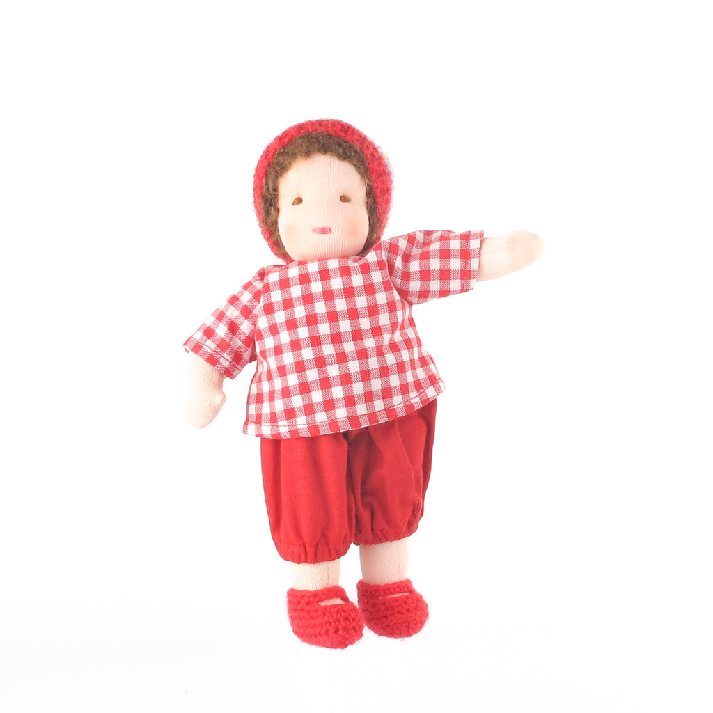 Ambrosius Waldorf doll boy -  brown hair
