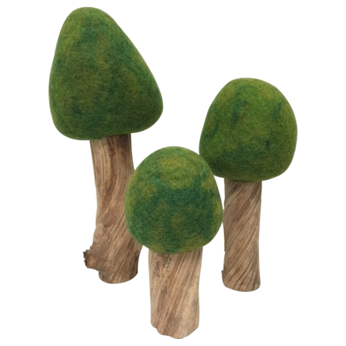 PapooseToys Set of 3 Summer Woodland Trees
