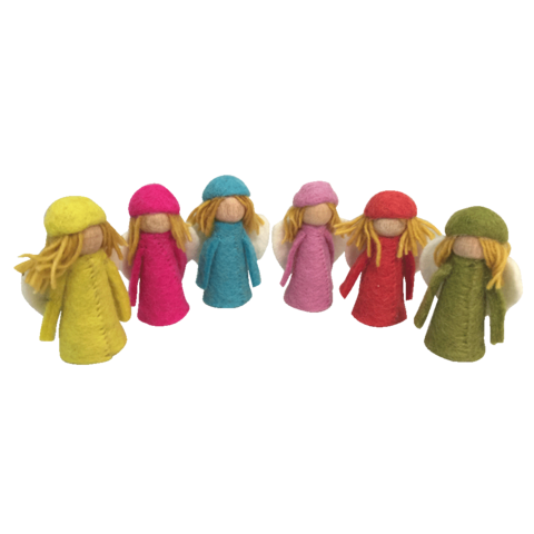 PapooseToys brightly colour fairies