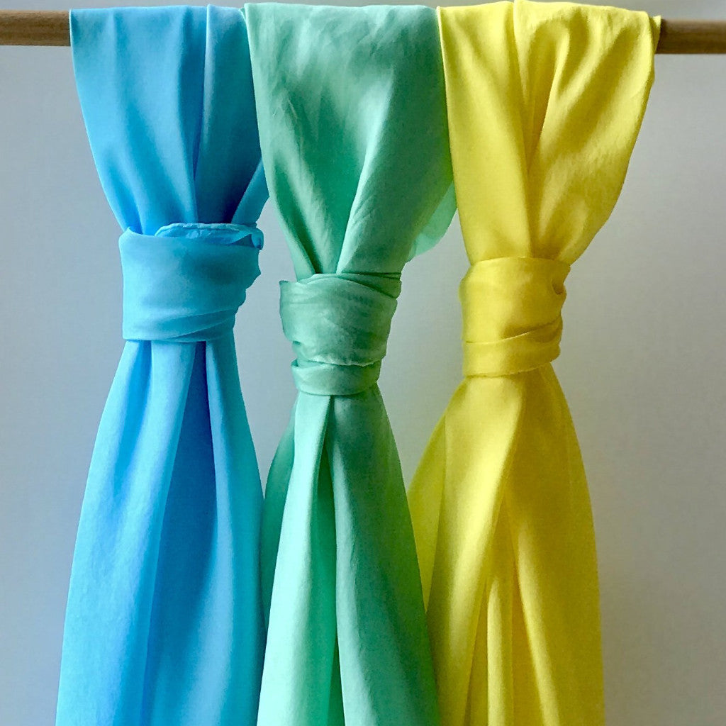 Play Silks - 3 Piece Blue , Green and Yellow Set