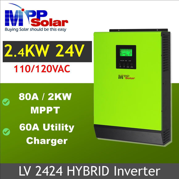 MPP Solar Hybrid LV 120/240v - Split Phase ready for USA, Canada & PR markets! - FREE SHIPPING!!!