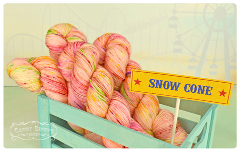 Snow Cone Liquid Candy - Fingering Weight