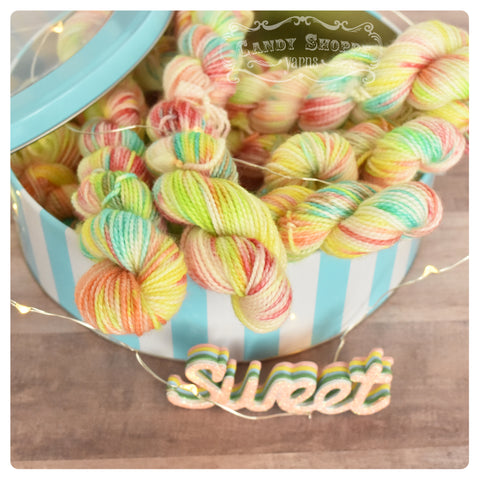 Gumball Mini Skein -Sour Gummy Worms