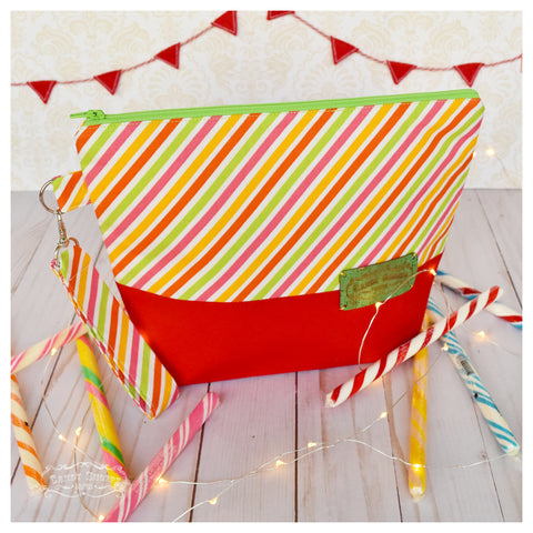 Fruit Stripe Zippered Project Bag