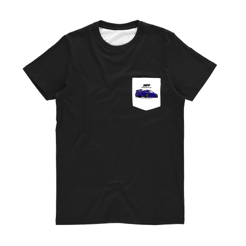 Midnight Purple R34 Classic Sublimation Pocket T-Shirt