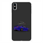 Midnight Purple R34 Back Printed Black Soft Phone Case