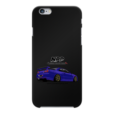 Midnight Purple R34 Back Printed Black Hard Phone Case